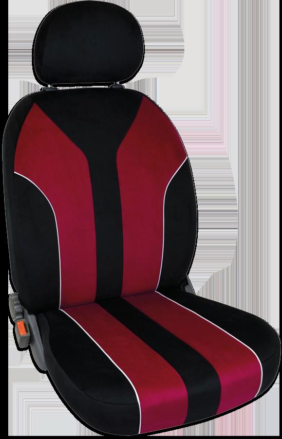 Sitzbezug Florenz Sportive rot/schwarz