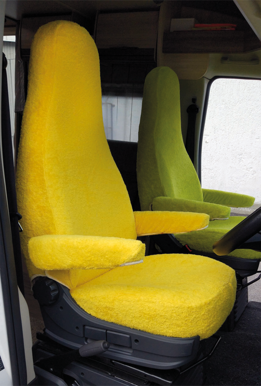 Sitzbezug Wohnmobil Frottee gelb