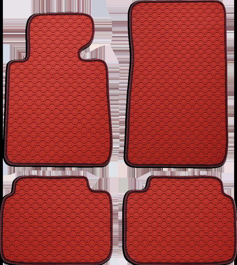Fußmatte Octagon rot