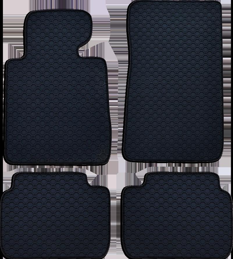 Fußmatte Octagon schwarz